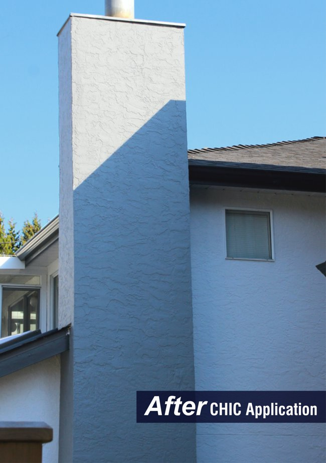 After installation of CHIC, the stucco is easy to keep clean looking, and brightens up the house.
