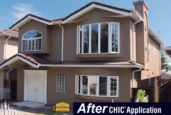 Acrylic Stucco After CHIC Advanced Coating