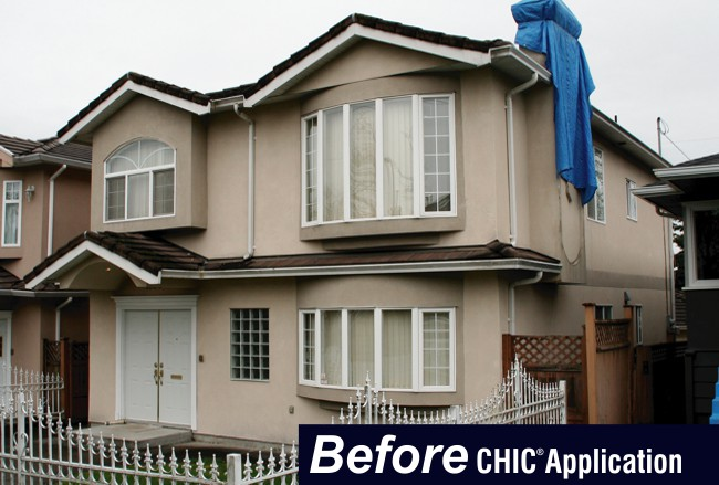 Acrylic Stucco Before CHIC Advanced Coating