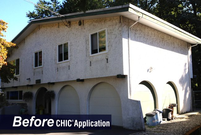Spanish Stucco Before CHIC Advanced Coating