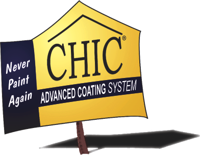 CHIC Advanced Coating Jobsign that identifies a project as one of ours.